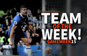 EPL Premier League Team of the week game week 15