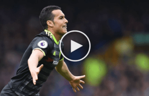Pedro goal vs Everton