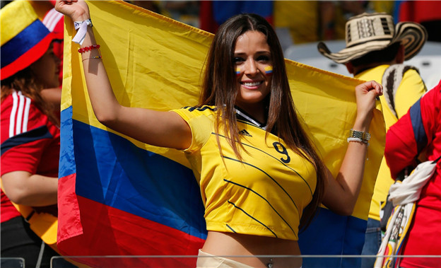 Countries With The Hottest Female Football Fans Colombian fans hot