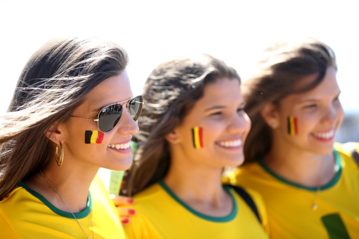 Images, Pictures and Photos of Beautiful, Sexy and Hot Belgian girls - Belgium Female Fans In World Cup 2018