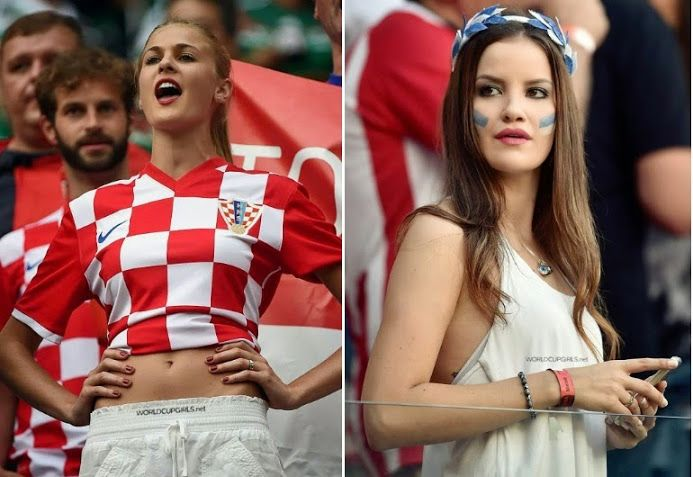 Images, Pictures and Photos of Beautiful, Sexy and Hot Croatian girls - Croatian Female Fans In World Cup 2018