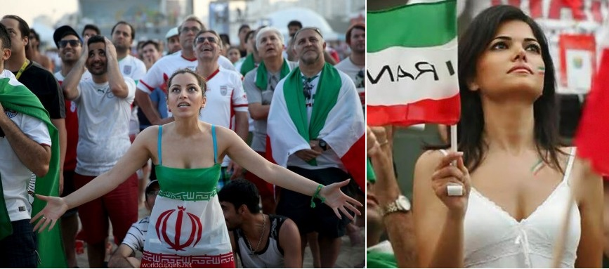 Images, Pictures and Photos of Beautiful, Sexy and Hot Iran girls - Iran Female Fans In World Cup 2018