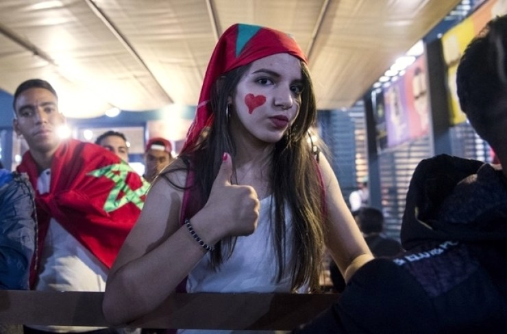 Images, Pictures and Photos of Beautiful, Sexy and Hot Moroccan girls - Morocco Female Fans In World Cup 2018