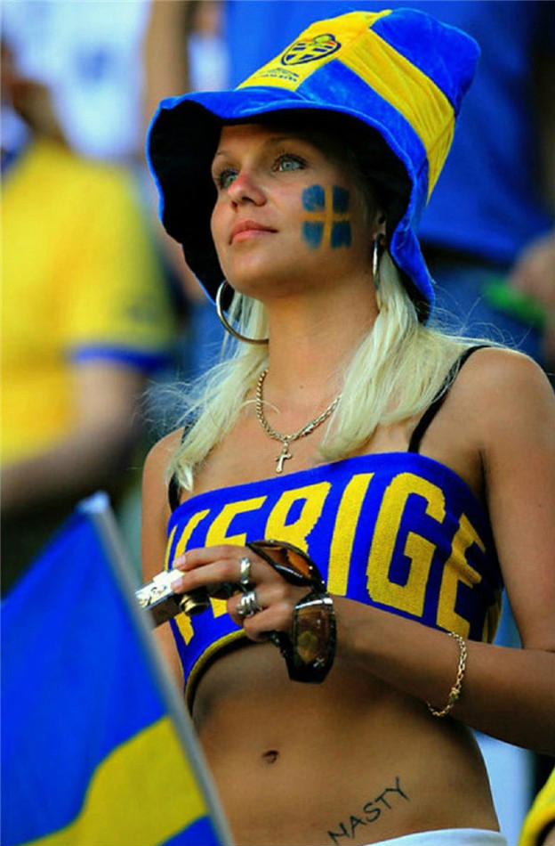 Images, Pictures and Photos of Beautiful, Sexy and Hot Sweden girls - Swedish Female Fans In World Cup 2018