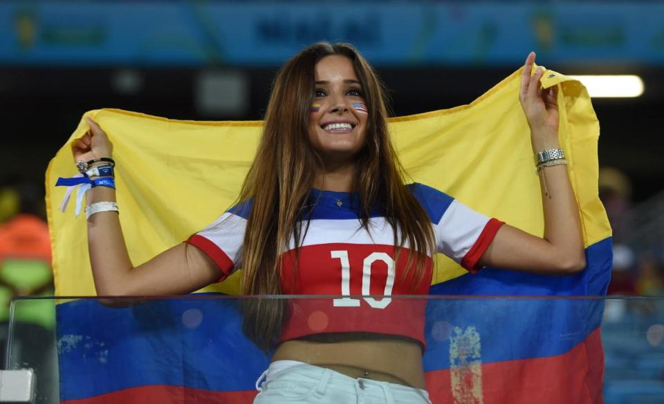 Top hottest fans World Cup 2014-2018 Colombian female fans World Cup hottest