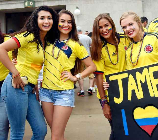 World Cup Teams With The sexiest Football Fans Colombian hot fans Colombia girls World Cup