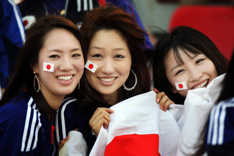 Images, Pictures and Photos of Beautiful, Sexy and Hot Japanese girls - Japan Female Fans In World Cup 2018