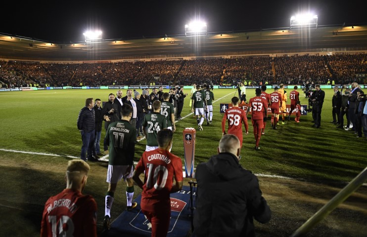 Plymouth Argyle Home Park- Plymouth fans