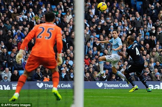 Fastest Premier League goal - Jesus Navas- ManchesterCity 3-2 Tottenham - 2013-11-24