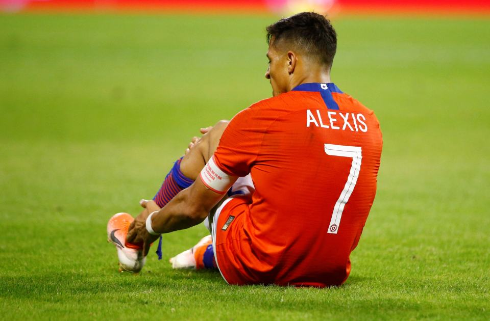 Chile injury-prone ace Alexis Sanchez out for three months with ankle injury