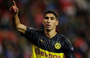 Borussia Dortmund Looking To Keep Achraf Hakimi From Real Madrid