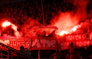 Bayern Munich match ends in bizzare protest over offensive banner
