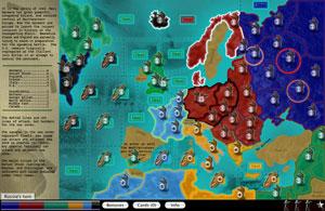 Screenshot: WWII Europe Map