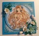 Sininen neito kukilla
