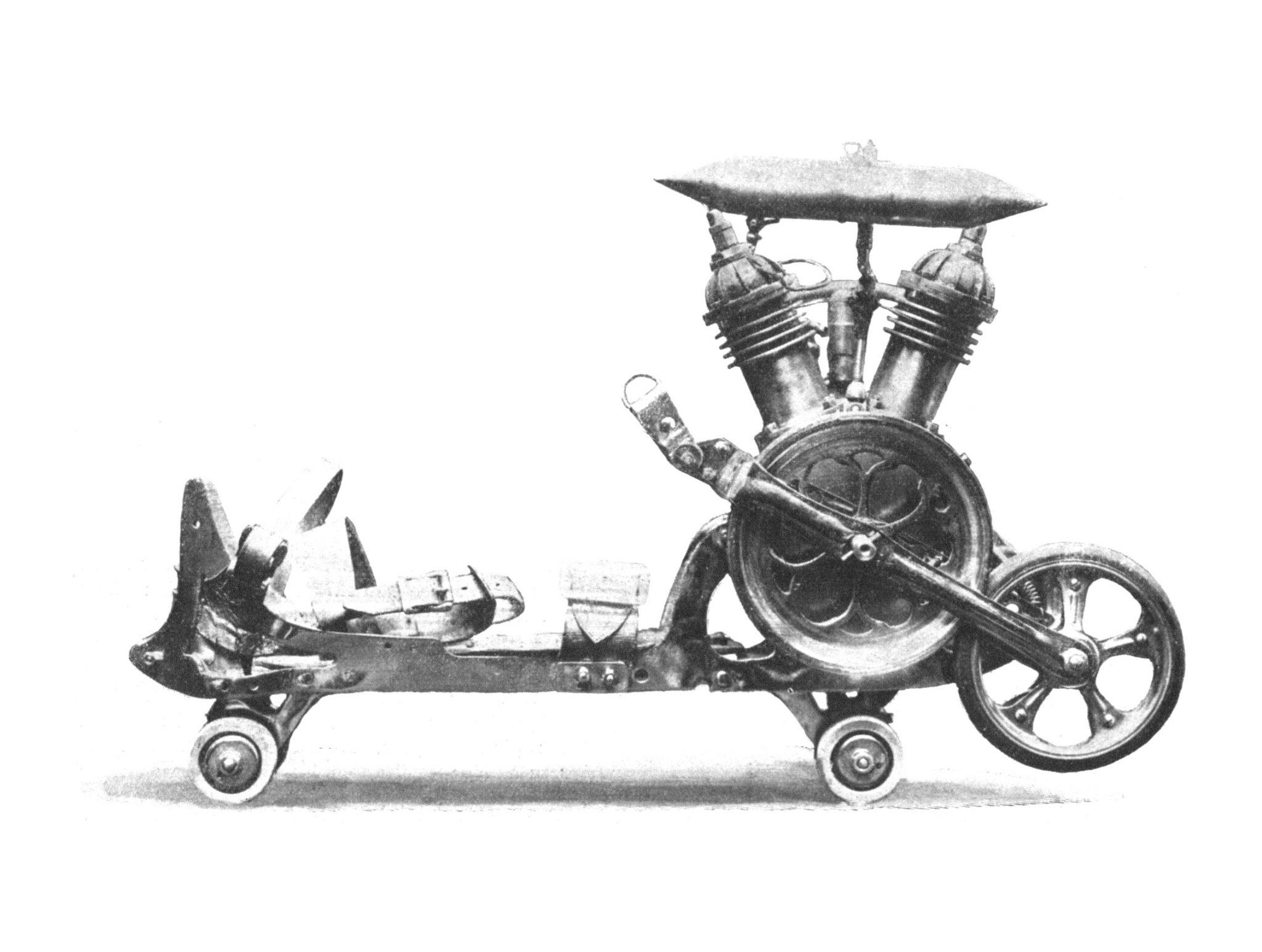 Motorized V Twin Roller Skates