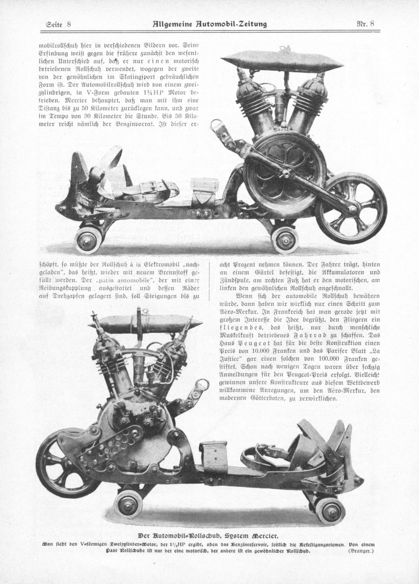 Motorized V Twin Roller Skates