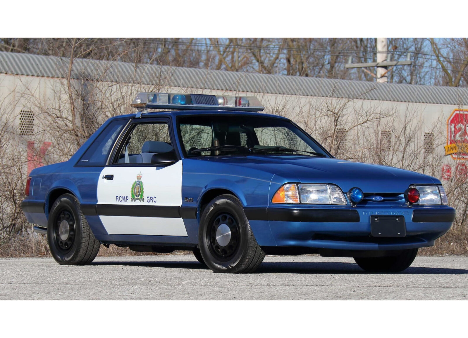 An Original Royal Canadian Mounted Police Ford Mustang Ssp