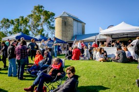 A great atmosphere at Silos Estate during the Winter Wine Festival.