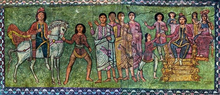 Synagogue Icon, Mordecai and Esther