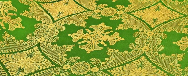 Green brocade