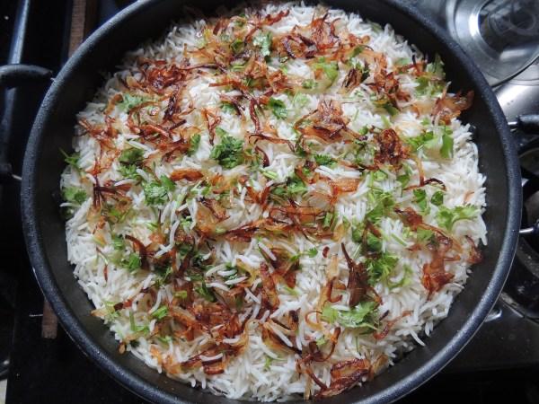 Pilav, tzatziki en gehakt