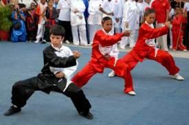 Niños practican Wushu el Día Mundial del Tai Chi y el Qi Gung, el 25 de Abril de 2009, La Habana, Cuba. Foto: Calixto N. Llanes/Juventud Rebelde (CUBA)