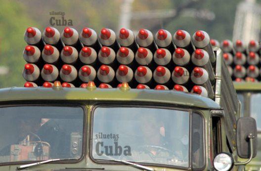 Los Medios de artillería desfilan durante la Revista Militar, el 14 de Abril de 2011, La Habana, Cuba. Foto: Calixto N. Llanes/Juventud Rebelde (CUBA)