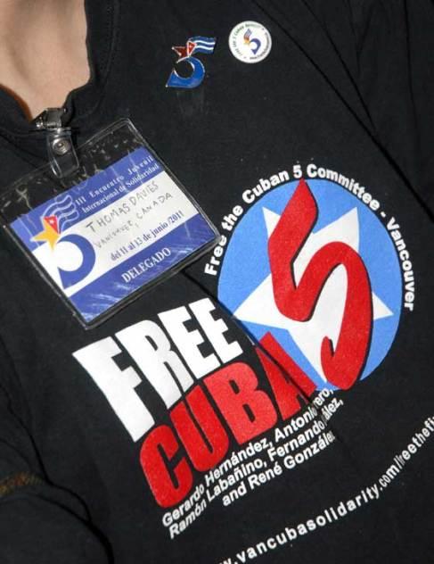 Delegada canadienses durante el III Encuentro Juvenil de Solidaridad con los Cinco, el 13 de Junio de 2011, La Habana, Cuba. Foto: Calixto N. Llanes/Juventud Rebelde (CUBA)