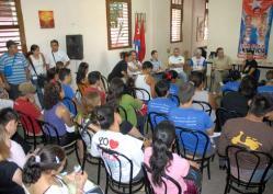"""En el taller """"Cultura y Nación"""" los delegados debatieron profundamente, el 13 de Junio de 2011, La Habana, Cuba. Foto: Calixto N. Llanes/Juventud Rebelde (CUBA)"""