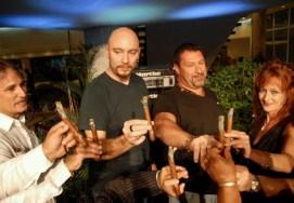 La competencia de fumadores devino plato fuerte del Encuentro celebrado en el Hotel Habana Libre Tryp, el 15 de Noviembre de 2011, La Habana, Cuba. Foto: Calixto N. Llanes (CUBA)