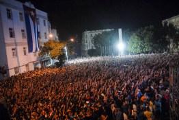 Miles de jóvenes cubanos llenaron los alrededores de la Universidad de La Habana durante el concierto de Buena Fé, el 19 de diciembre de 2012, La Habana. Foto: Calixto N. Llanes/Juventud Rebelde (CUBA)