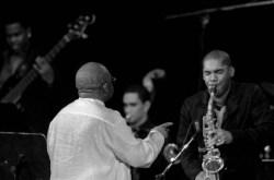 Joaquín Betancourt y la Joven Jazz Band durante el 2do día del Festival Internacional Jazz Plaza 2012, el viernes 21 de diciembre de 2012, La Habana. FOTO: Calixto N. Llanes (CUBA)