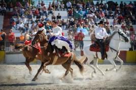 Escaramuzas mixtas en el Torneo Internacional de Rodeo y Coleo, durante la Feria Internacional Agroindustrial Alimentaria (FIAGROP) de Rancho Boyeros el viernes 21 de marzo de 2014 en La Habana, Cuba. FOTO de Calixto N. Llanes/Juventud Rebelde (CUBA)