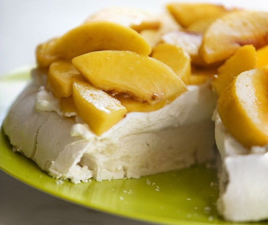 Gluten-Free Dairy-Free Peaches-and-Cream Meringue Cake