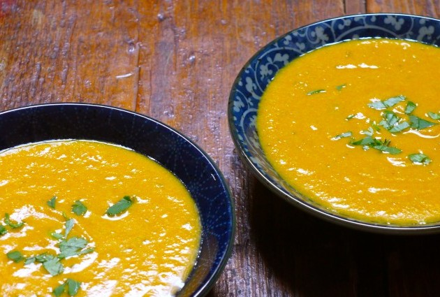 Gluten-Free, Dairy-Free Carrot-Ginger Bisque