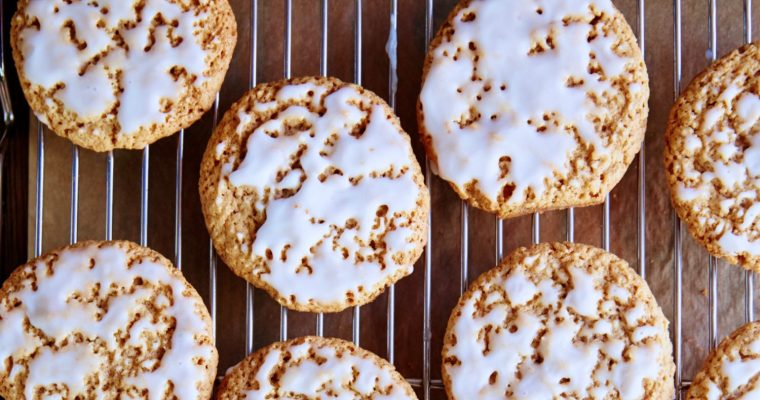 Gluten-Free, Dairy-Free Iced Soft Oatmeal Cookies