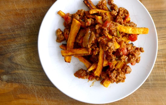 Paleo Turkey Chili Sweet Potato Fries