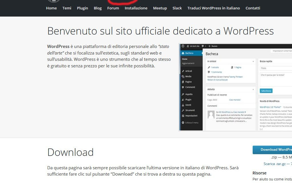 WordPress.org come trasferire il Blog da WordPress.com