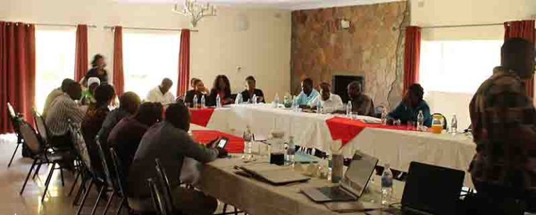 Development Partners in Bindura at a Post Monitoring Dialogue Meeting for web