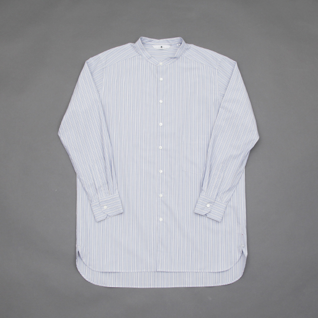 SILVER AND GOLD GENERAL MERCHANDISE Artist Band Collar Shirt Traditional  Stripe