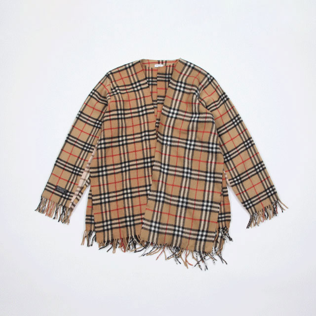OLD PARK SCARF CARDIGAN BURBERRY size:M [OP-289]