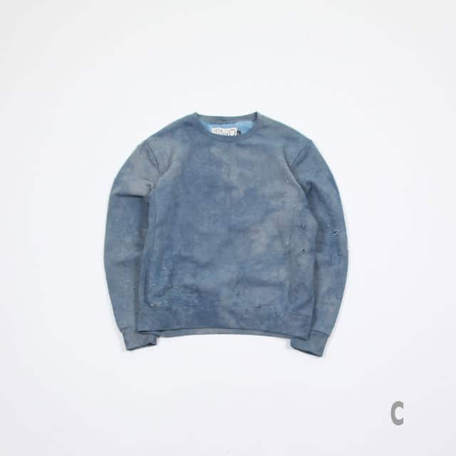TOTALLY BLOWN SUNDAY SWEATSHIRTS INDIGO size:M/L