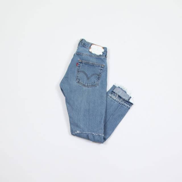 OLD PARK BACK FLARE JEANS BLUE size:S [OP-311]