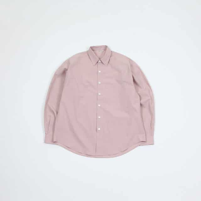 AURALEE WASHED FINX TWILL BIG SHIRTS [A9SS01TN]
