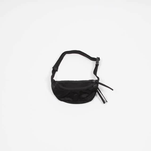 hobo Polyester Mesh Shoulder Bag Black [HB-BG2923]