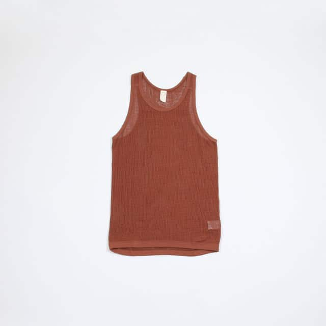 O project ORGANIC MESH REGULAR FIT TANK TOP [07TT1]