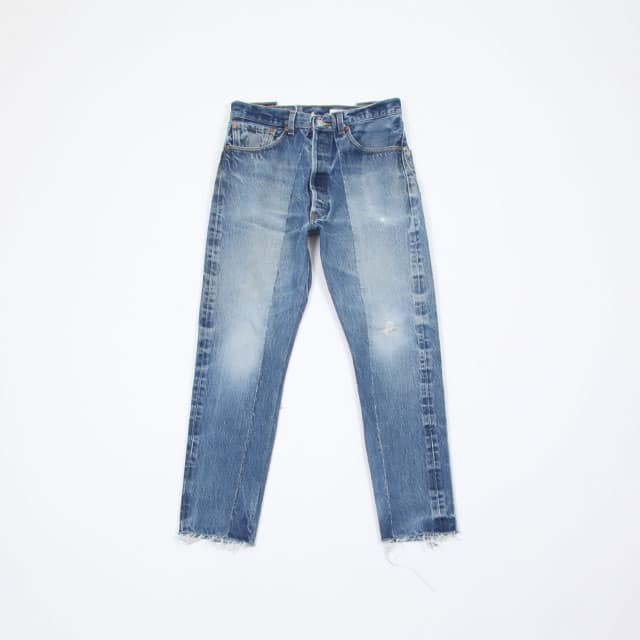 OLD PARK SLIM FLARE JEANS BLUE [OP-291]