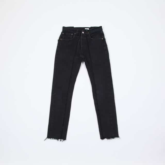 OLD PARK SLIM FLARE JEANS BLACK [OP-291]