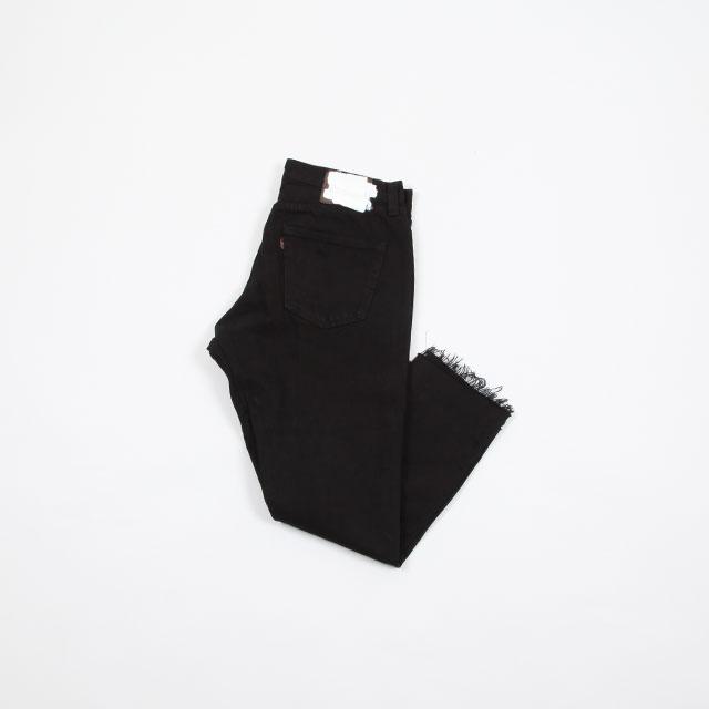 OLD PARK GUSSET JEANS BLACK size:M [OP-310]
