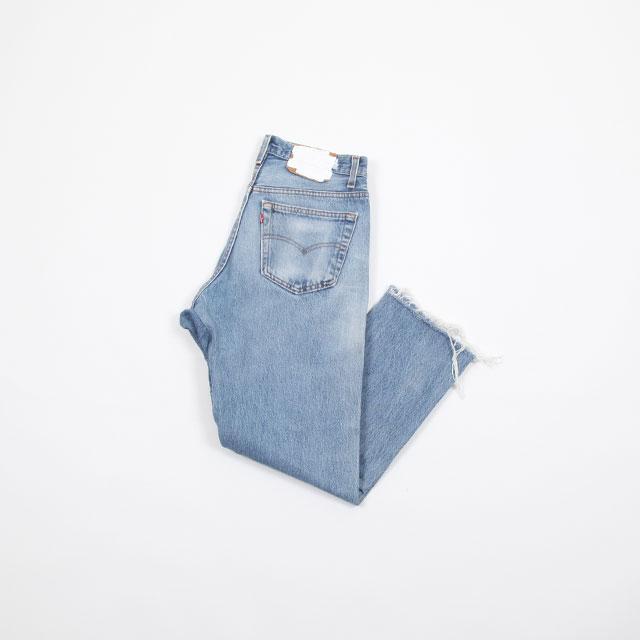 OLD PARK GUSSET JEANS BLUE size:M [OP-310]